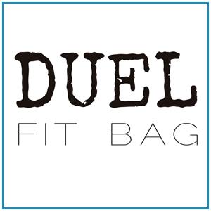 Logo para bolsa fitness Duel Fit Bag. Bolsa térmica para marmitas e shakes fit.