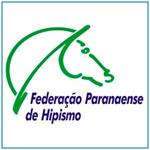 Logo da Federação Paranaense de Hipismo que tem sede em Curitiba - PR.