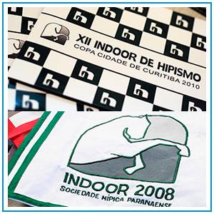 Logo, flyers e convite para Copa de Hipismo que acontece anualmente na SHPr. A logo foi criada em 2008 e vem sendo usada todos os anos.