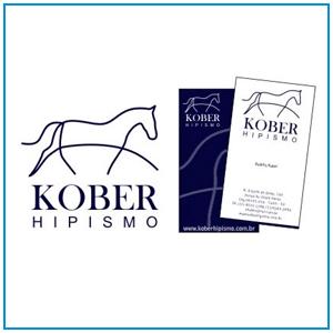 Logo, cartão de visita e desenvolvimento de site para amazona, instrutora de adestramento e preparadora de cavalos, Andrea Kober que presta serviço no estado de São Paulo.
