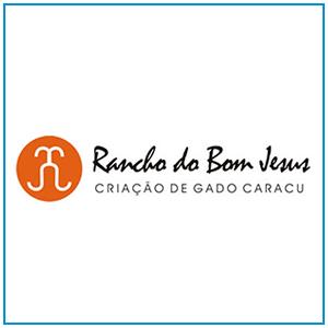 Logo, cartão de visita e desenvolvimento de site para fazenda Rancho do Bom Jesus, localizada no norte do Paraná, em Guaraci.
