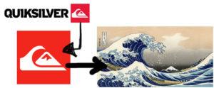 Meio obvio mas a onda está representada na logo da marca de roupas para surfistas